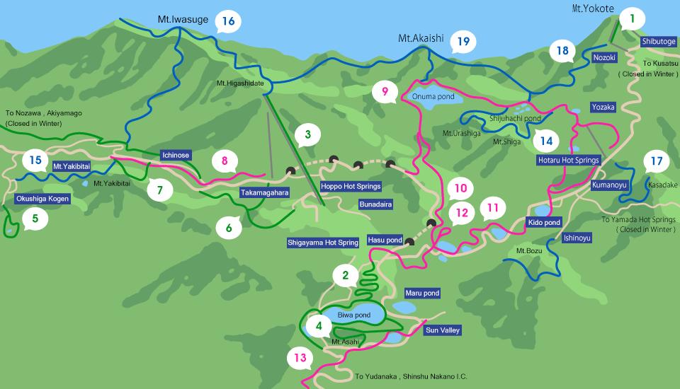 Trekking Map List