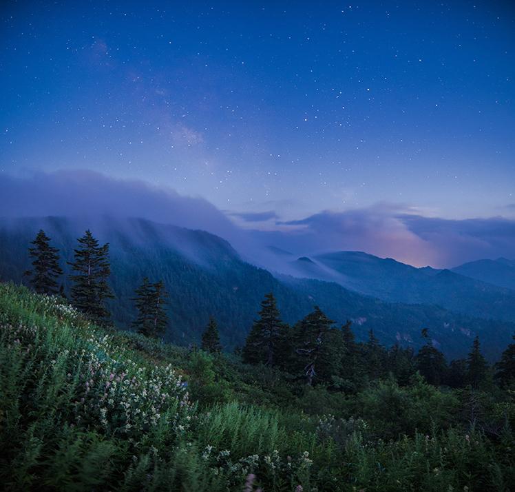 極彩色の夕暮れ