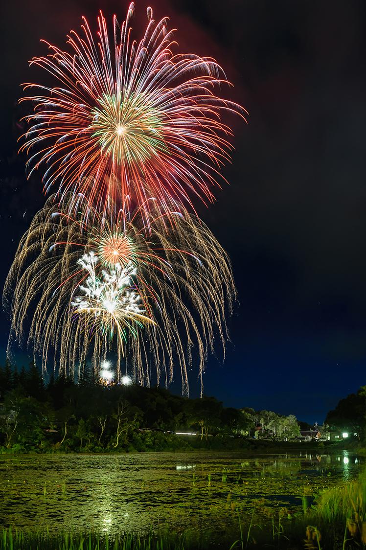 大蛇祭りの打ち上げ花火