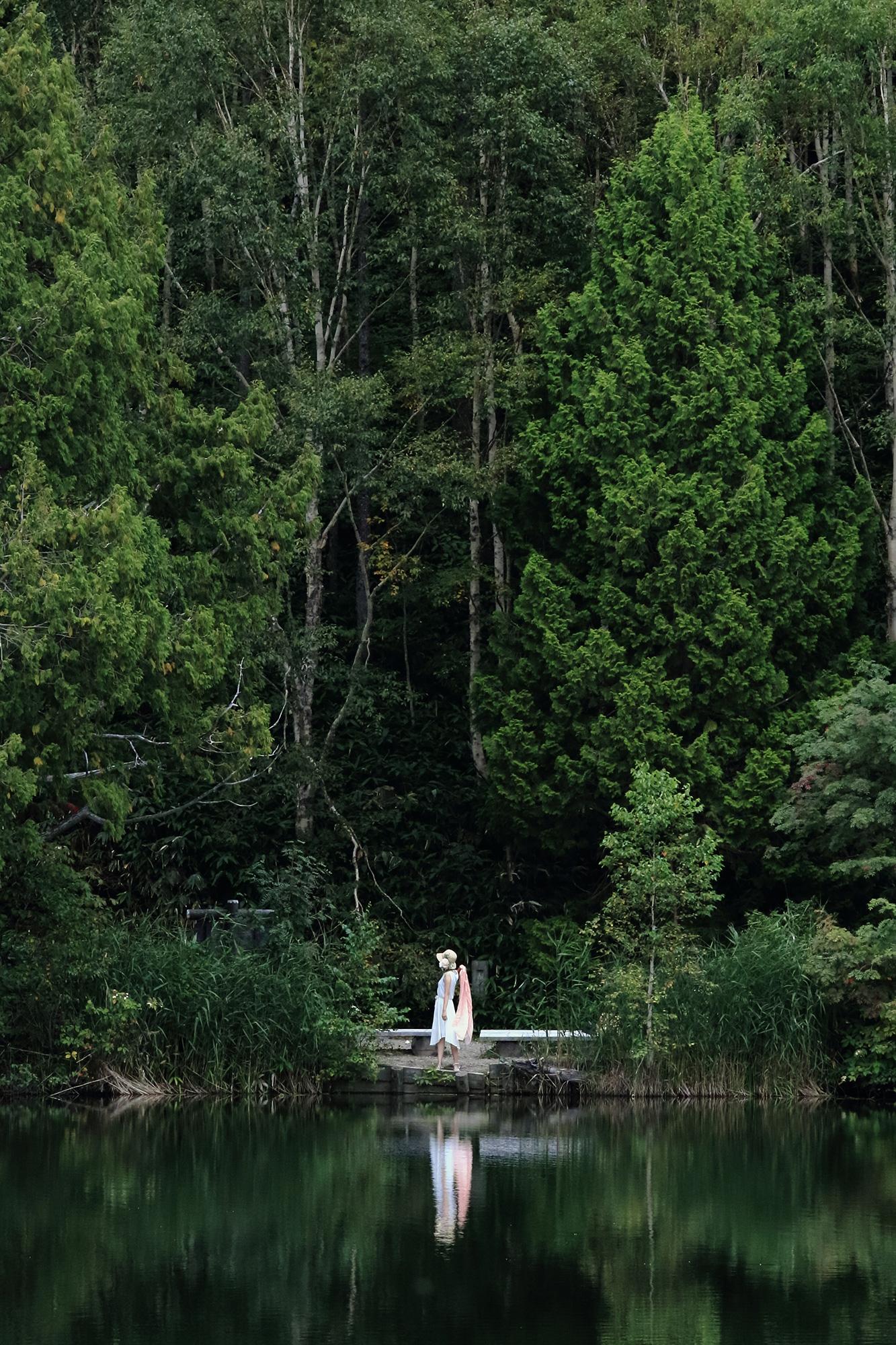 池の向こう側