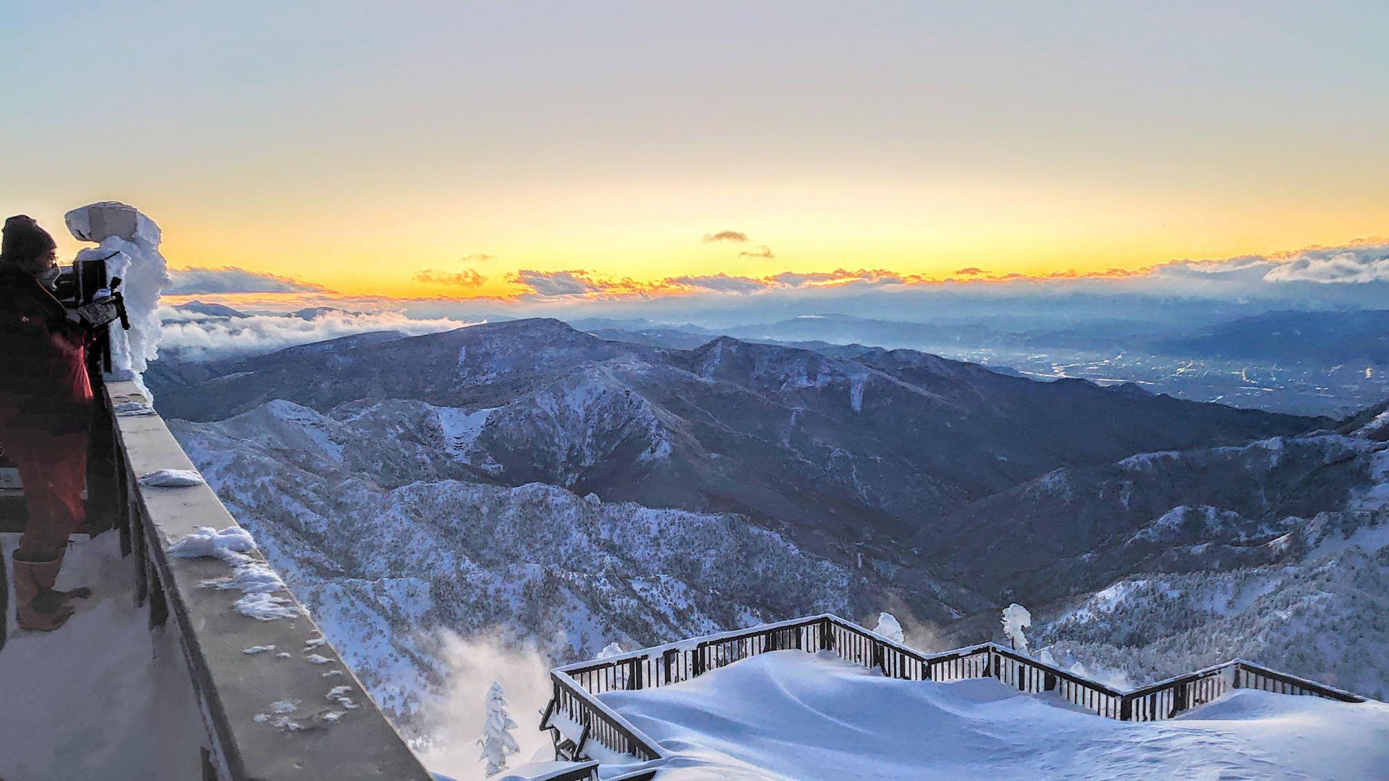 横手山からの夕焼け